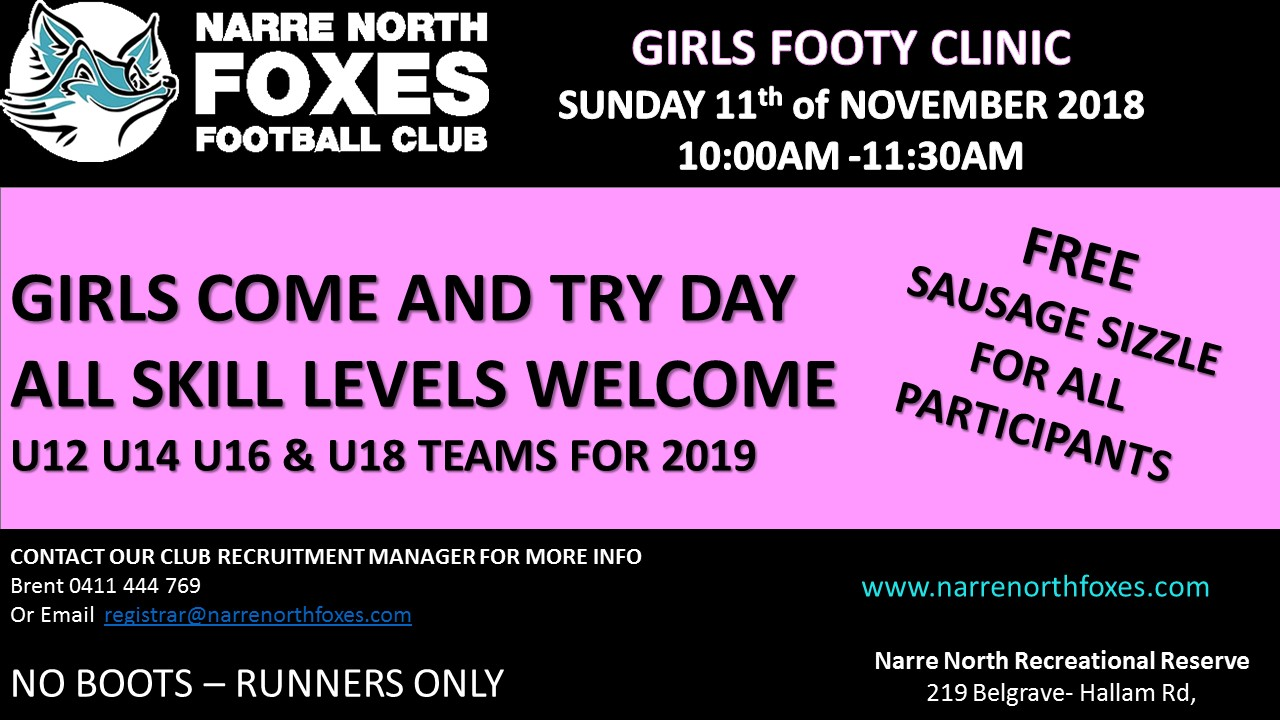 Girls Footy Clinic